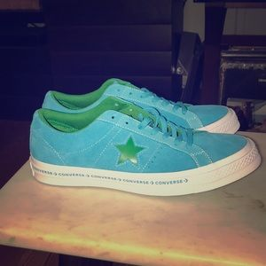New Converse One Star Blue & Green Men's Size 9